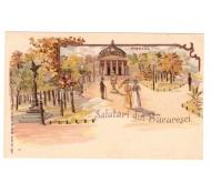 CARTI POSTALE VECHI ROMANIA-LITHO-SALUTARI DIN BUCURESTI-1900