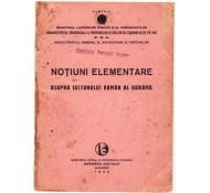 NOTIUNI ELEMENTARE ASUPRA SECTORULUI ROMAN AL DUNAREI-1935