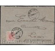 FRAGMENT DE PLIC CIRCULAT 1900