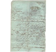SCRISOARE VECHE-1866